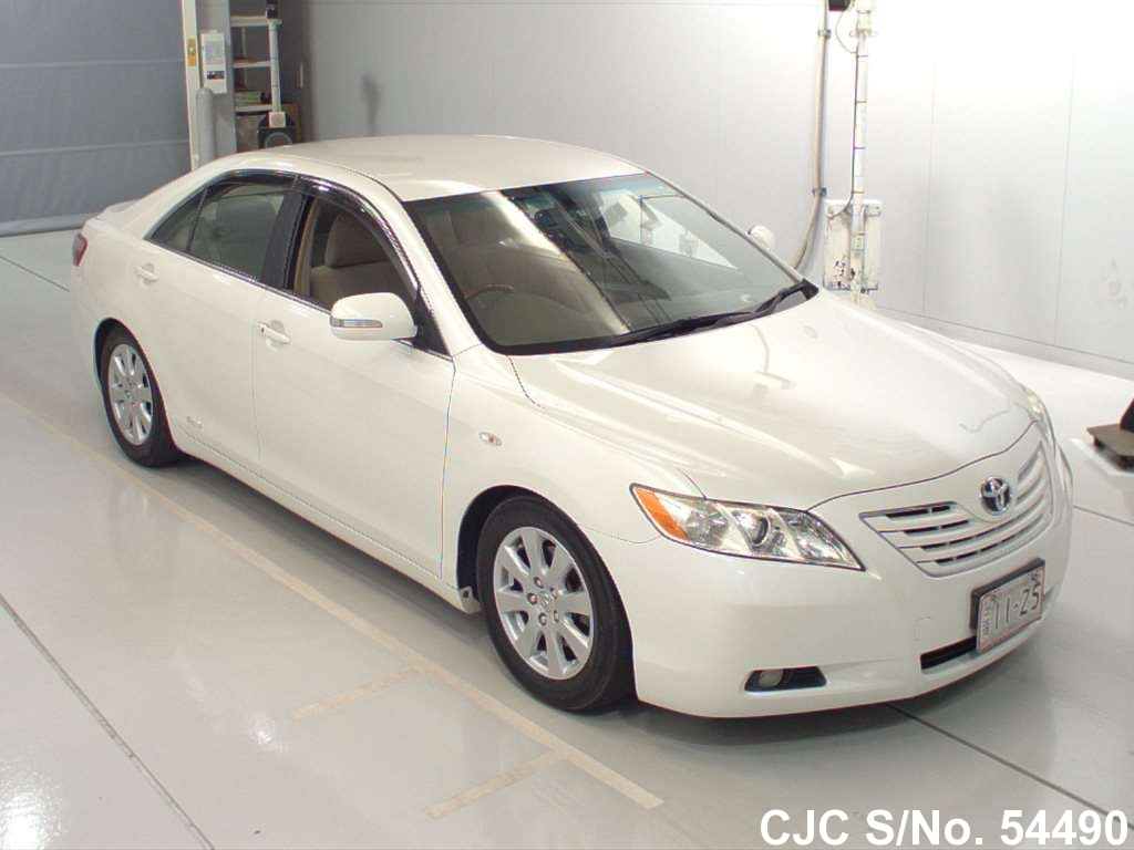 2008 toyota camry white for sale stock no 54490 japanese used cars exporter. Black Bedroom Furniture Sets. Home Design Ideas