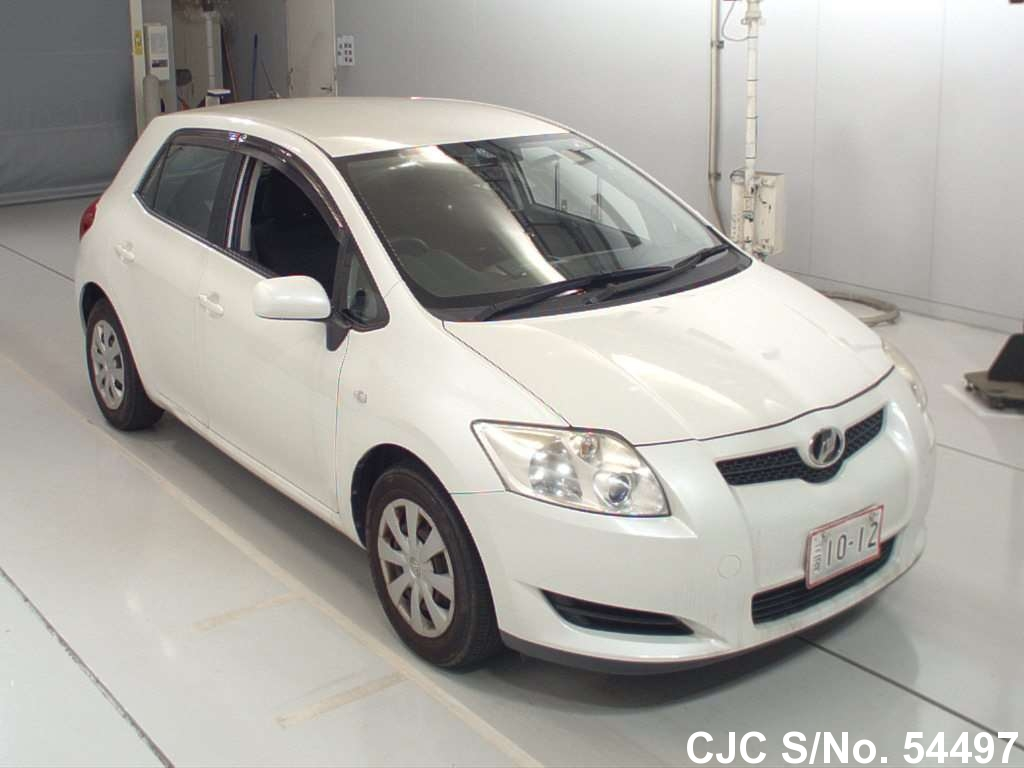 2009 toyota auris white for sale stock no 54497 japanese used cars exporter. Black Bedroom Furniture Sets. Home Design Ideas