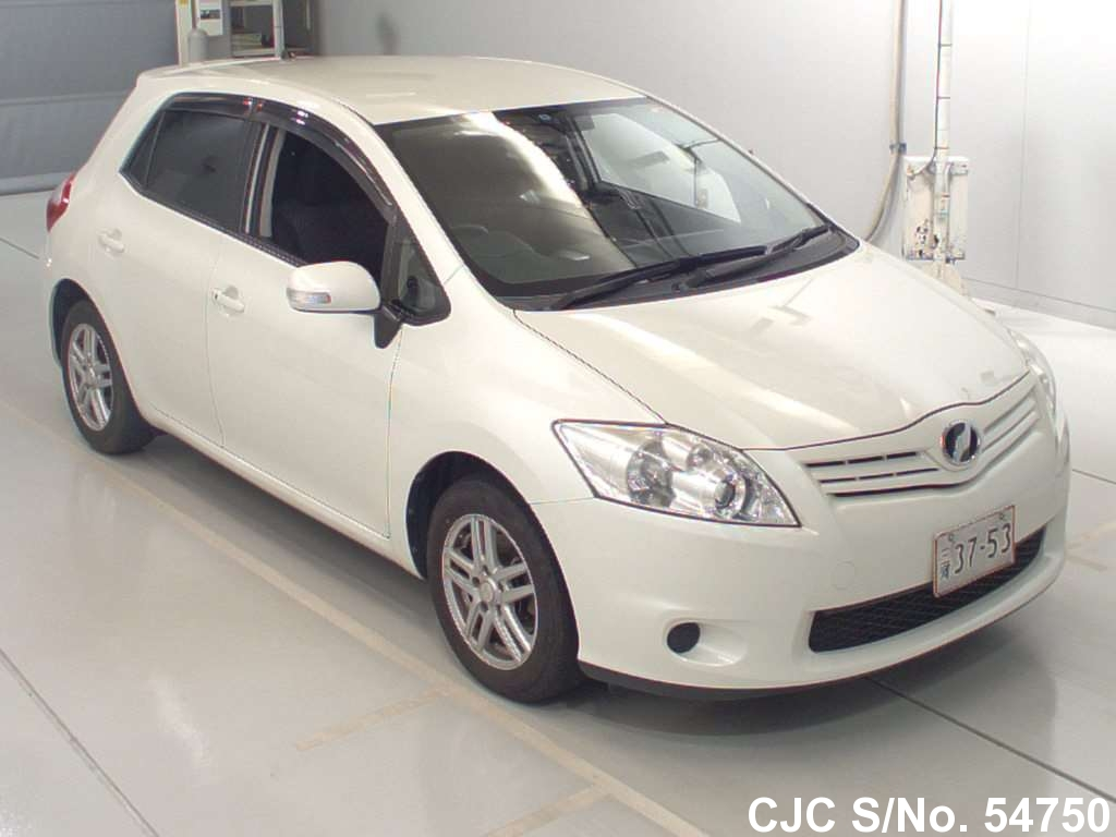 2011 toyota auris white for sale stock no 54750. Black Bedroom Furniture Sets. Home Design Ideas