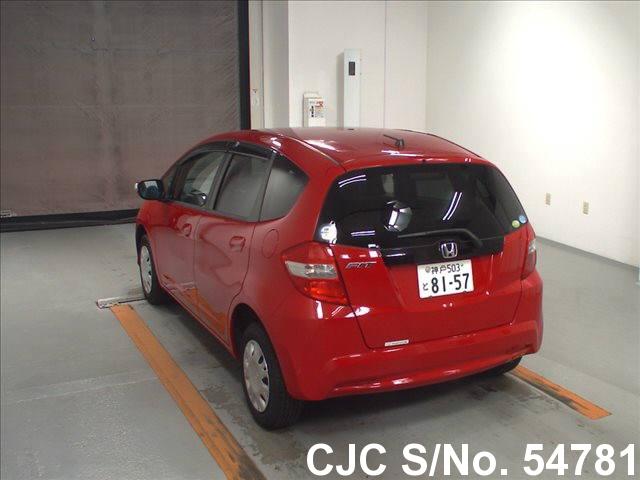 2012 honda fit jazz red for sale stock no 54781 japanese used cars exporter. Black Bedroom Furniture Sets. Home Design Ideas