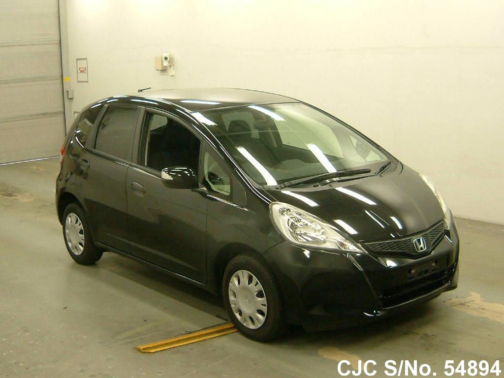 2012 honda fit jazz black for sale stock no 54894 japanese used cars exporter. Black Bedroom Furniture Sets. Home Design Ideas