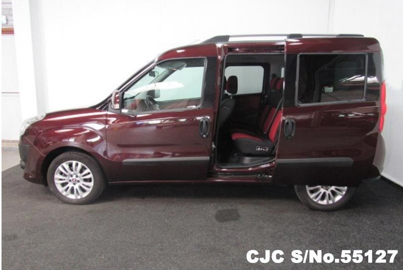 2011 Left Hand Fiat Doblo Maroon Brown For Sale Stock No