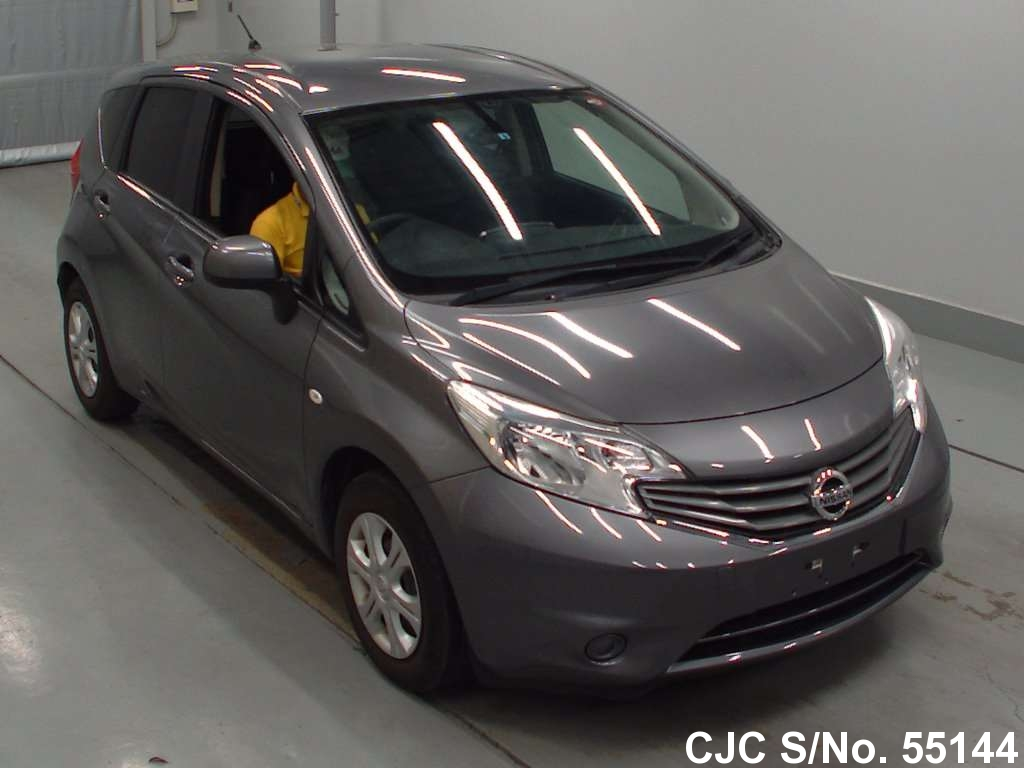 2012 nissan note gray for sale stock no 55144 japanese used cars exporter. Black Bedroom Furniture Sets. Home Design Ideas