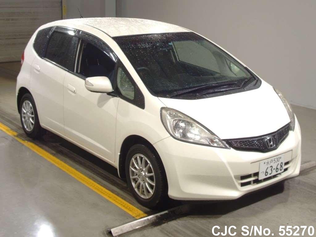 2012 honda fit jazz white for sale stock no 55270 japanese used cars exporter. Black Bedroom Furniture Sets. Home Design Ideas