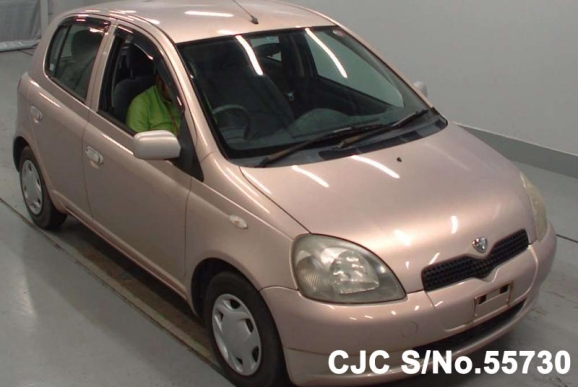 2000 toyota vitz yaris pink for sale stock no 55730 japanese used cars exporter. Black Bedroom Furniture Sets. Home Design Ideas