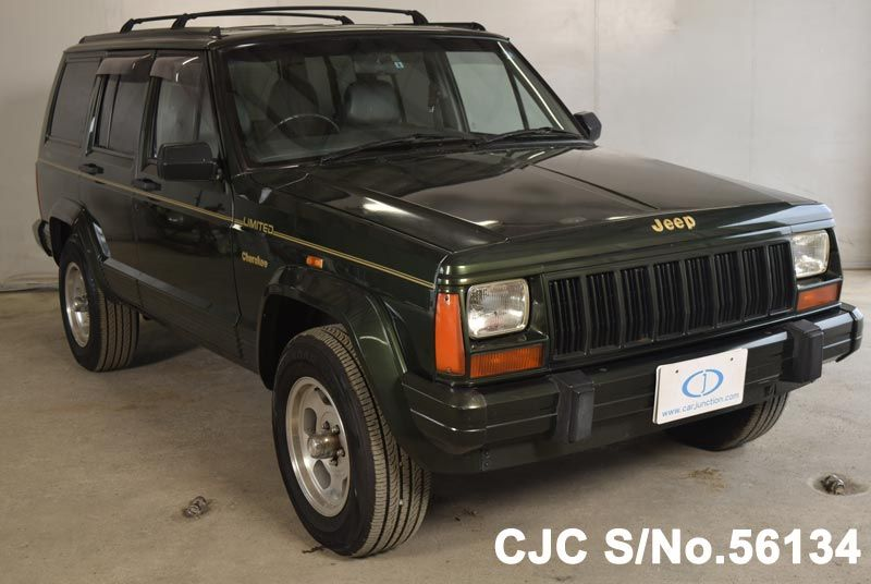 1995 chrysler jeep cherokee green for sale stock no 56134 japanese used cars exporter. Black Bedroom Furniture Sets. Home Design Ideas