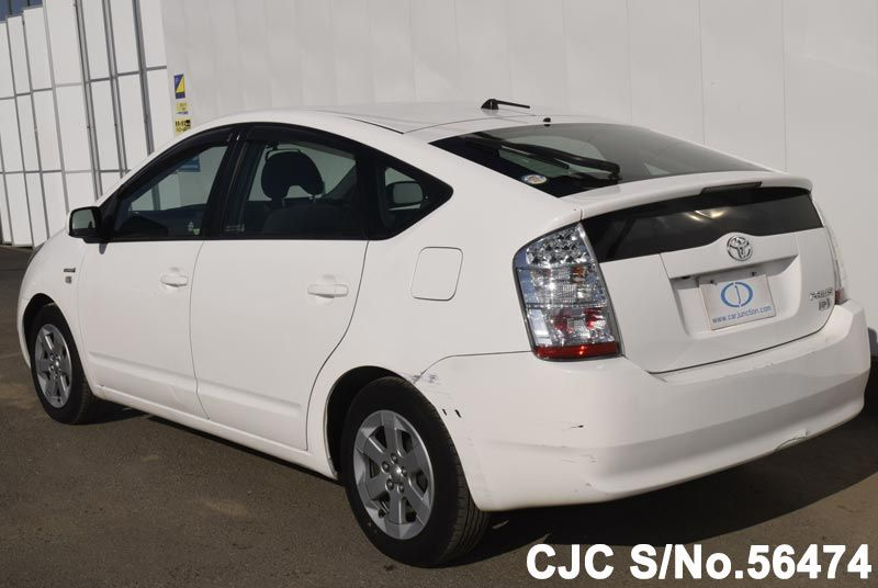 2008 toyota prius hybrid white for sale stock no 56474 japanese used cars exporter. Black Bedroom Furniture Sets. Home Design Ideas