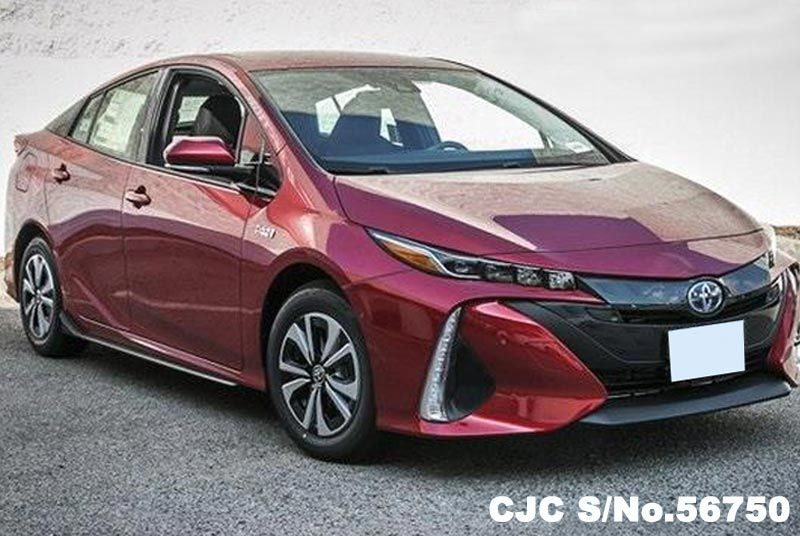 brand new 2017 left hand toyota prius prime premium hypersonic red for sale stock no 56750. Black Bedroom Furniture Sets. Home Design Ideas