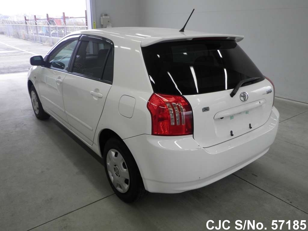2004 toyota corolla runx white for sale stock no 57185 japanese used cars exporter. Black Bedroom Furniture Sets. Home Design Ideas