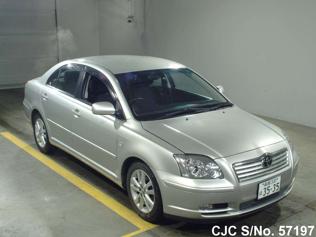 2004 toyota avensis silver for sale stock no 57197 japanese used cars exporter. Black Bedroom Furniture Sets. Home Design Ideas