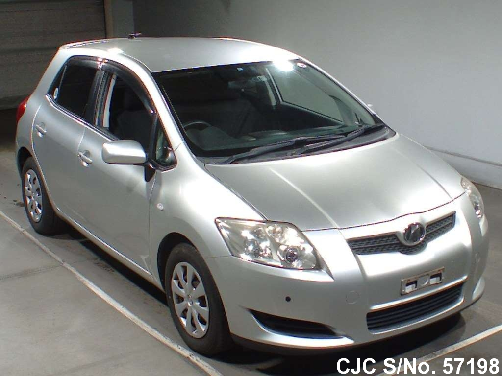 2007 toyota auris silver for sale stock no 57198 japanese used cars exporter. Black Bedroom Furniture Sets. Home Design Ideas