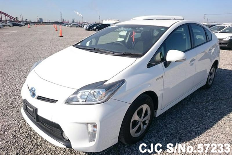 2014 toyota prius hybrid white for sale stock no 57233 japanese used cars exporter. Black Bedroom Furniture Sets. Home Design Ideas