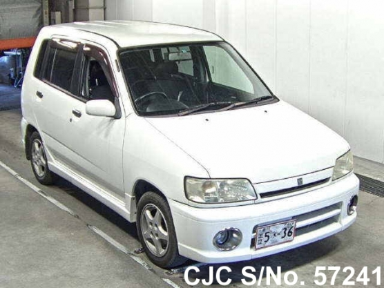 1999 nissan cube white for sale stock no 57241 japanese used cars exporter. Black Bedroom Furniture Sets. Home Design Ideas
