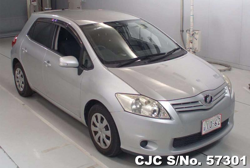 2009 toyota auris silver for sale stock no 57301 japanese used cars exporter. Black Bedroom Furniture Sets. Home Design Ideas