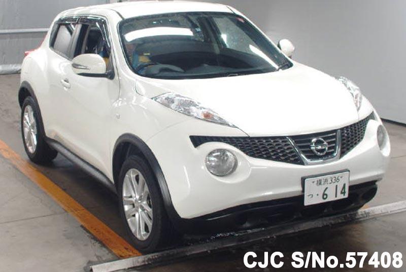 2010 nissan juke white for sale stock no 57408 japanese used cars exporter. Black Bedroom Furniture Sets. Home Design Ideas