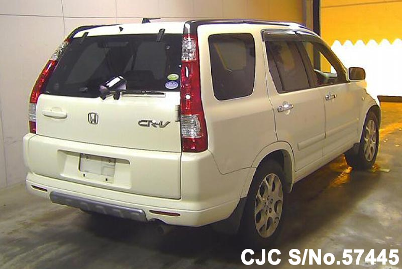 2006 honda crv white for sale stock no 57445 japanese used cars exporter. Black Bedroom Furniture Sets. Home Design Ideas
