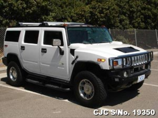 2003 Hummer H2 White For Sale Stock No 19350 Japanese Used Cars
