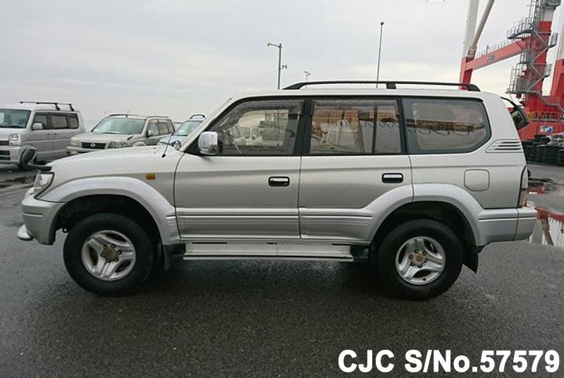 2000 toyota land cruiser prado silver for sale stock no 57579 japanese used cars exporter. Black Bedroom Furniture Sets. Home Design Ideas