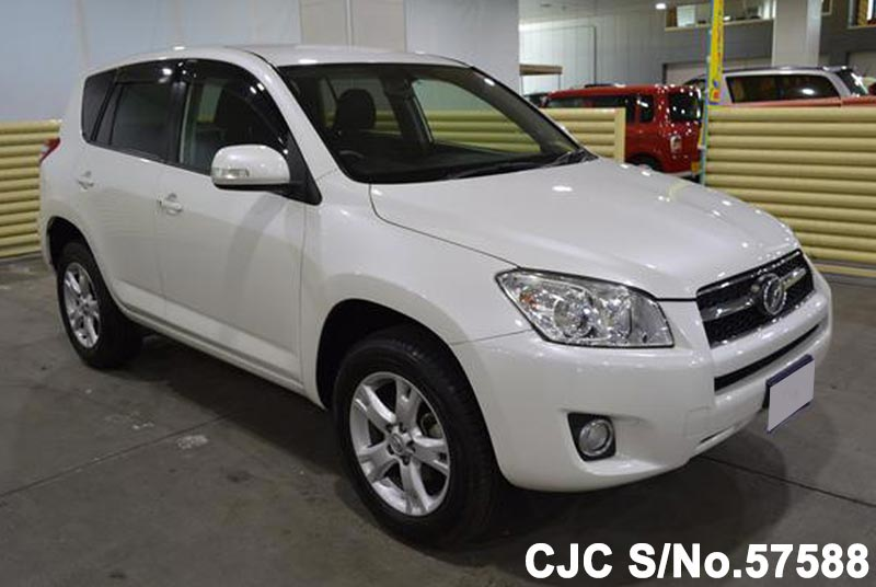 2011 toyota rav4 white for sale stock no 57588 japanese used cars exporter. Black Bedroom Furniture Sets. Home Design Ideas