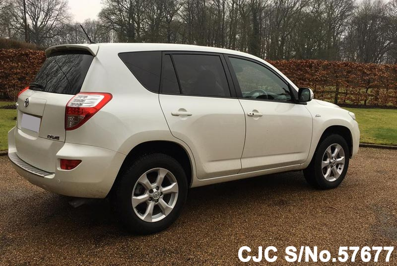 2010 toyota rav4 white for sale stock no 57677 japanese used cars exporter. Black Bedroom Furniture Sets. Home Design Ideas