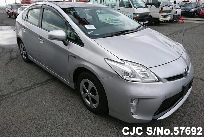 2013 toyota prius hybrid silver for sale stock no 57692 japanese used cars exporter. Black Bedroom Furniture Sets. Home Design Ideas