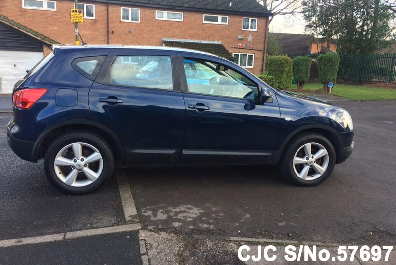 2008 nissan qashqai blue for sale stock no 57697 japanese used cars exporter. Black Bedroom Furniture Sets. Home Design Ideas