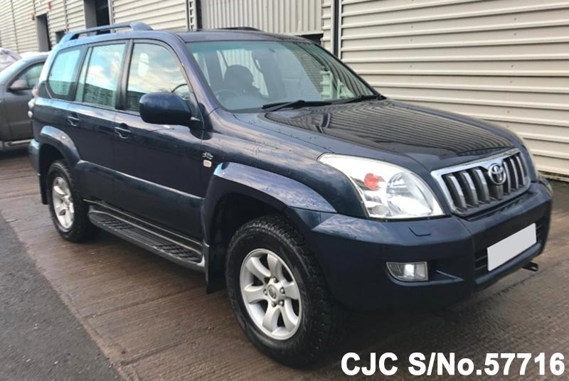 2004 toyota land cruiser prado blue for sale stock no. Black Bedroom Furniture Sets. Home Design Ideas