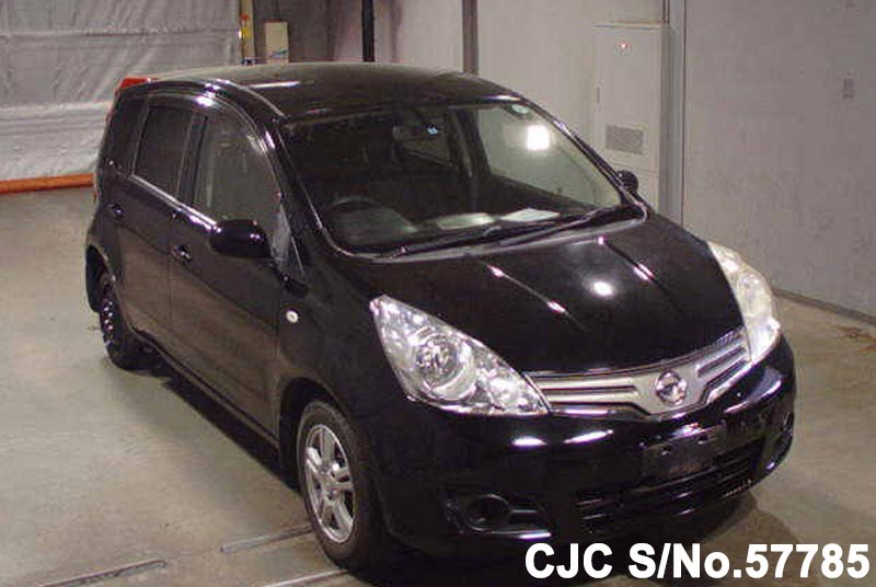 2008 nissan note black for sale stock no 57785 japanese used cars exporter. Black Bedroom Furniture Sets. Home Design Ideas