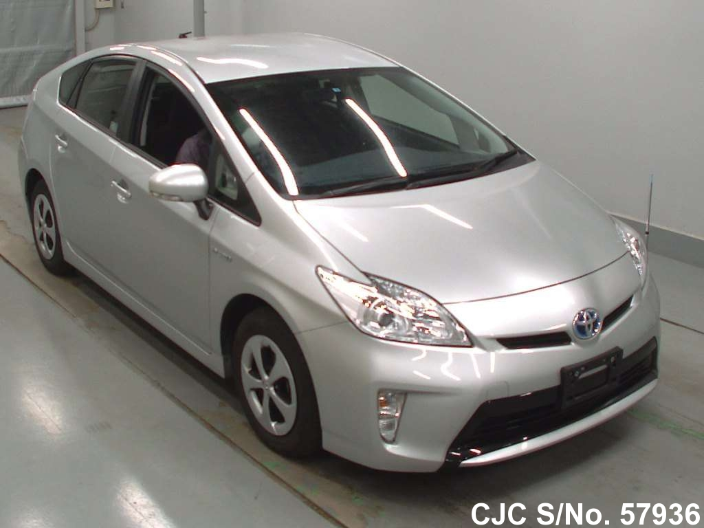 2015 toyota prius hybrid silver for sale stock no 57936 japanese used cars exporter. Black Bedroom Furniture Sets. Home Design Ideas