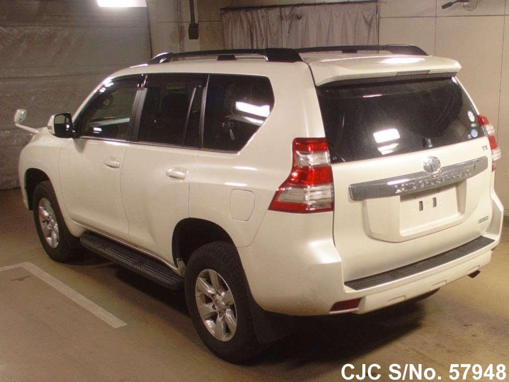 2014 toyota land cruiser prado white for sale stock no 57948 japanese used cars exporter. Black Bedroom Furniture Sets. Home Design Ideas