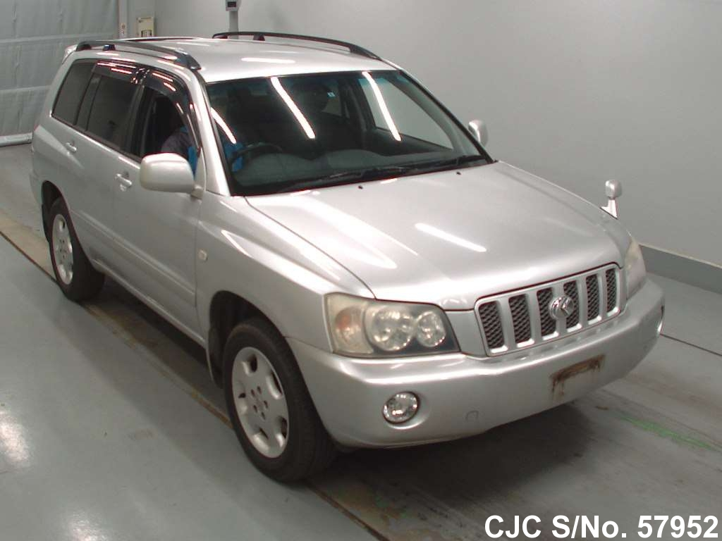 2002 toyota kluger silver for sale stock no 57952