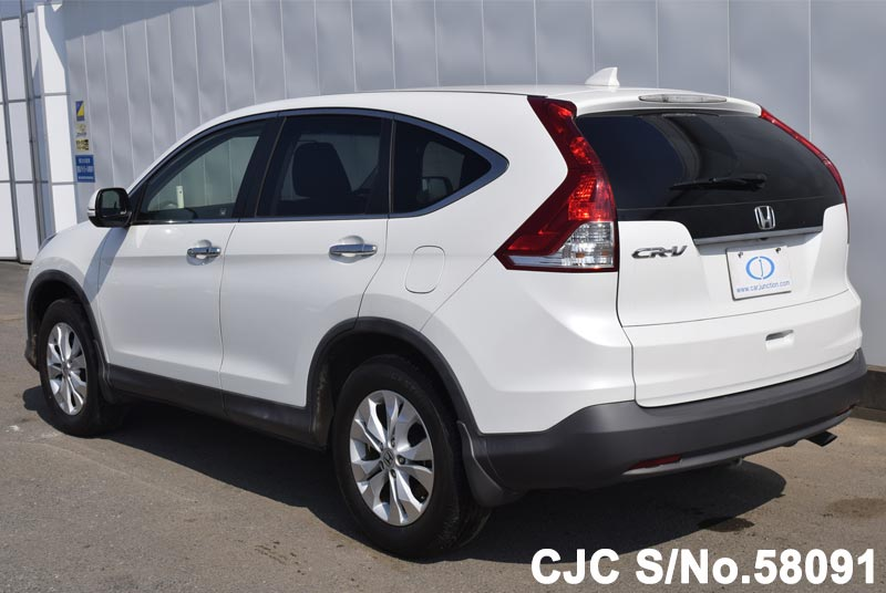 2012 honda crv white for sale stock no 58091 japanese used cars exporter. Black Bedroom Furniture Sets. Home Design Ideas