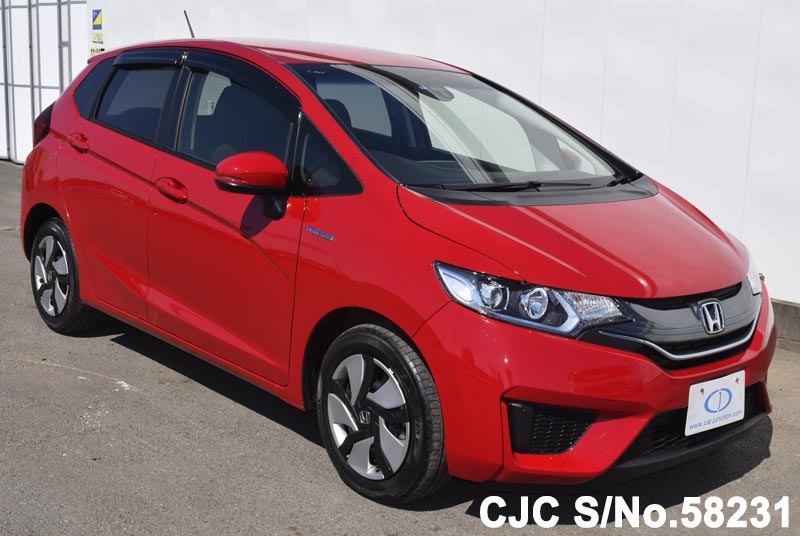 2014 honda fit jazz red for sale stock no 58231 japanese used cars exporter. Black Bedroom Furniture Sets. Home Design Ideas