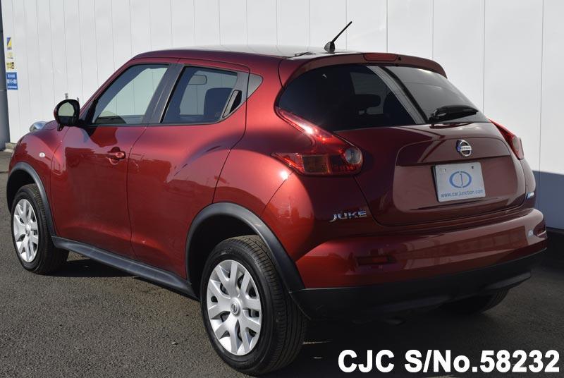 2014 nissan juke red for sale stock no 58232 japanese used cars exporter. Black Bedroom Furniture Sets. Home Design Ideas