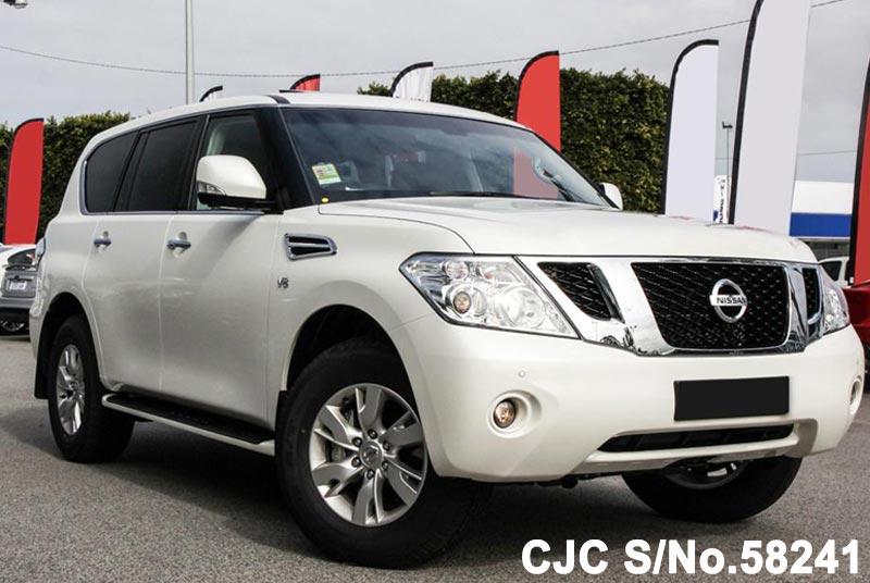 left view of luxury sport utility vehicle Nissan Patrol