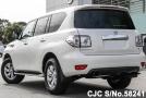 left side of luxury sport utility vehicle Nissan Patrol