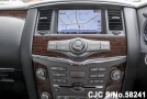 screen player of luxury sport utility vehicle Nissan Patrol