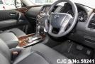 front inside of luxury sport utility vehicle Nissan Patrol