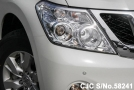 left light of luxury sport utility vehicle Nissan Patrol