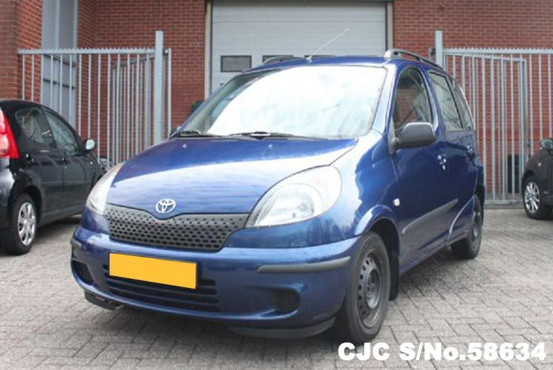 2000 left hand toyota yaris verso blue for sale stock no 58634 left hand used cars exporter. Black Bedroom Furniture Sets. Home Design Ideas