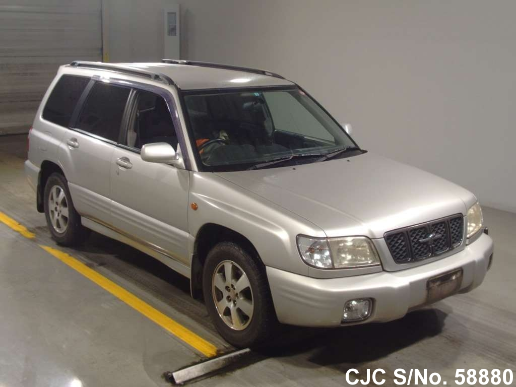 2000 subaru forester silver for sale stock no 58880 japanese used cars exporter. Black Bedroom Furniture Sets. Home Design Ideas