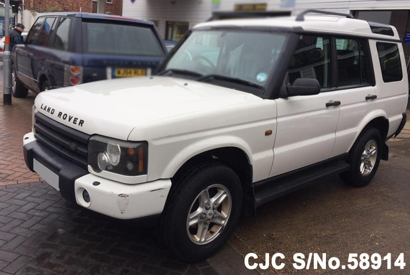 2003 land rover discovery white for sale stock no 58914 japanese used cars exporter. Black Bedroom Furniture Sets. Home Design Ideas