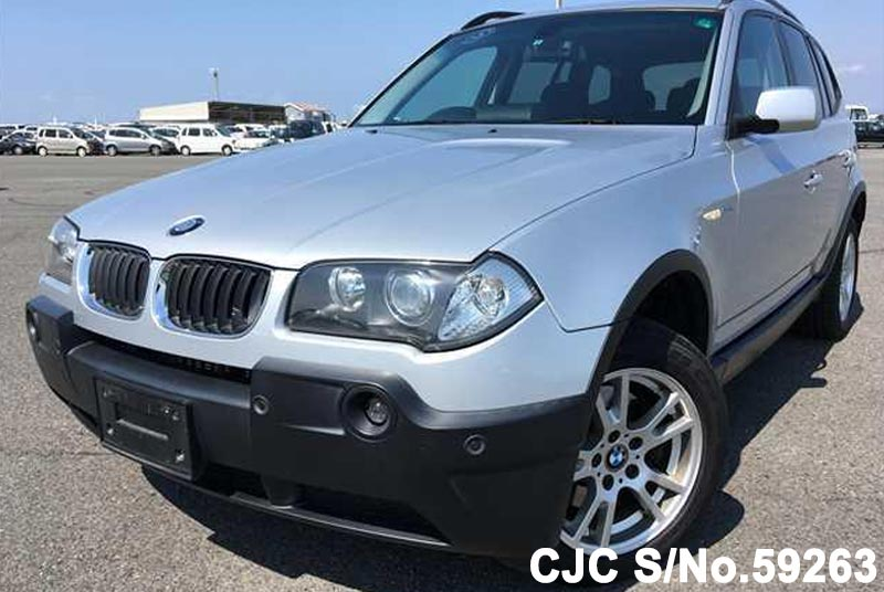 2006 bmw x3 silver for sale stock no 59263 japanese used cars exporter. Black Bedroom Furniture Sets. Home Design Ideas