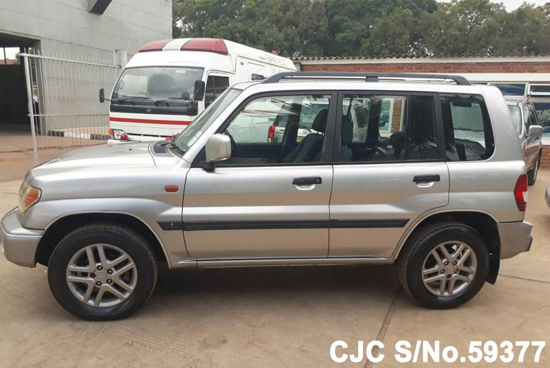 2003 mitsubishi pajero shogun pinin silver for sale stock no 59377 japanese used cars exporter. Black Bedroom Furniture Sets. Home Design Ideas