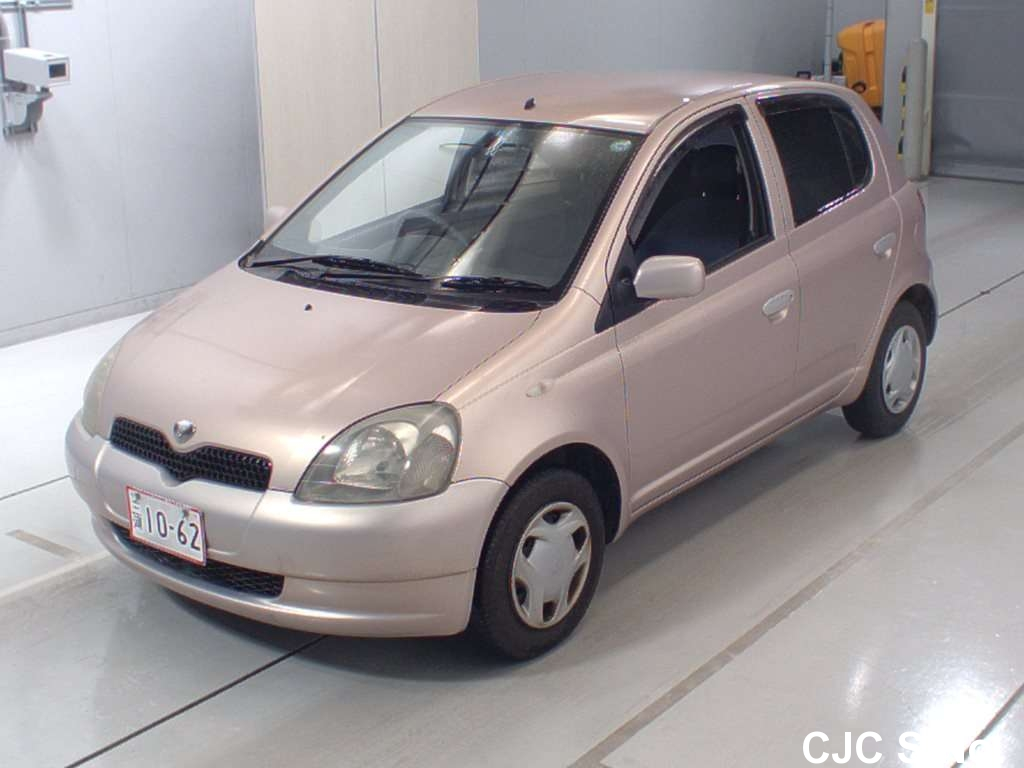 2001 toyota vitz yaris pink for sale stock no 59711. Black Bedroom Furniture Sets. Home Design Ideas