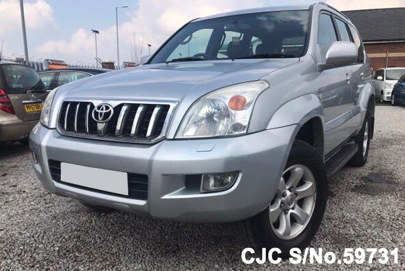 2005 toyota land cruiser prado silver for sale stock no 59731 japanese used cars exporter. Black Bedroom Furniture Sets. Home Design Ideas