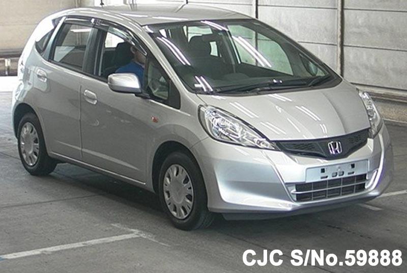 2012 honda fit jazz silver for sale stock no 59888 japanese used cars exporter. Black Bedroom Furniture Sets. Home Design Ideas