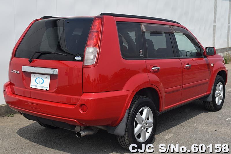 2004 nissan x trail red for sale stock no 60158 japanese used cars exporter. Black Bedroom Furniture Sets. Home Design Ideas