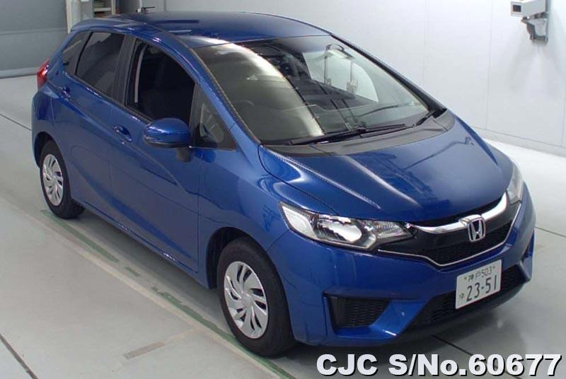 2015 honda fit jazz blue for sale stock no 60677 japanese used cars exporter. Black Bedroom Furniture Sets. Home Design Ideas