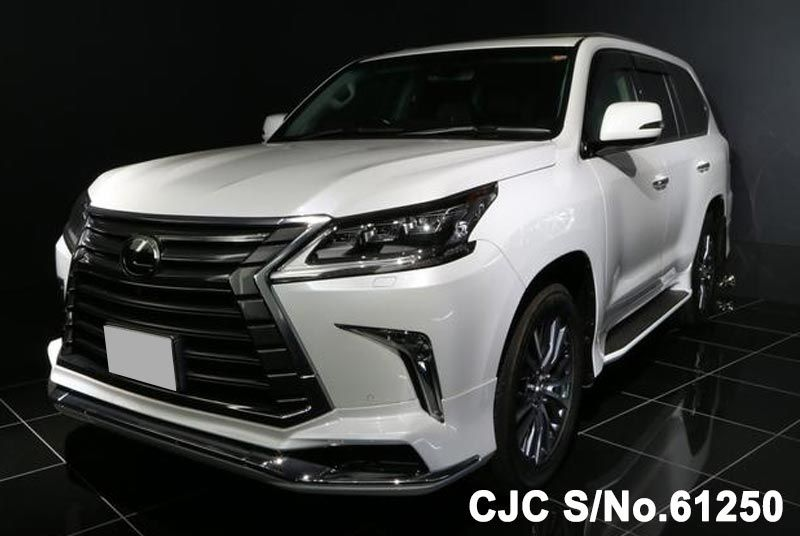 2016 lexus lx 570 white for sale stock no 61250 japanese used cars exporter. Black Bedroom Furniture Sets. Home Design Ideas